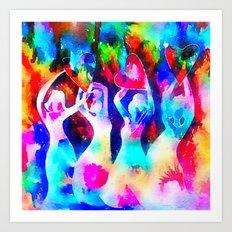 Rainbow Sisterhood Art Print