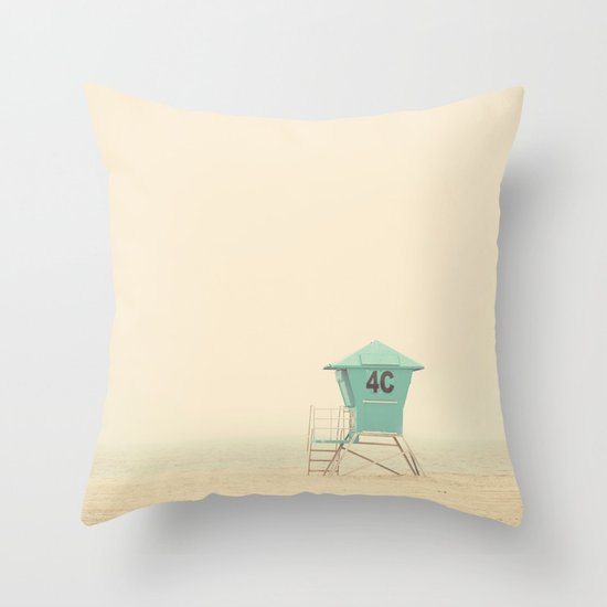 the sound of outer ocean on a beach ... Throw Pillow