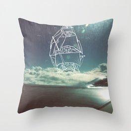 Sail the Skies Throw Pillow
