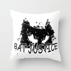 Bat Justice Throw Pillow
