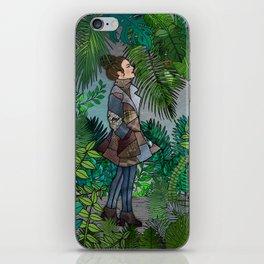 A Winter Walk in a Tropical Greenhouse iPhone Skin