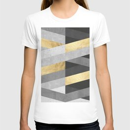 Gold and gray lines IV T-shirt