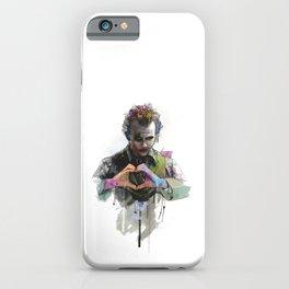 Heath Ledger Joker Movie Character iPhone Case