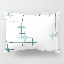 Mid Century Modern Stars (Teal) Pillow Sham