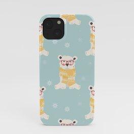 Polar bear pattern 002 iPhone Case