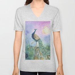 The Peacock Unisex V-Neck