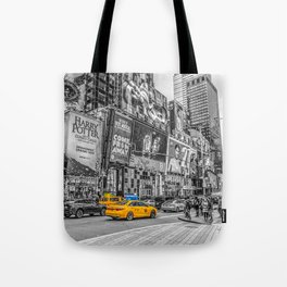 Yellow Taxi's Times Square Tote Bag