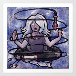 Meditating Amethyst Art Print