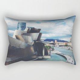 The Guggenheim Museum Bilboa (Frank Gehry Architecture) Rectangular Pillow