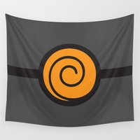suit Wall Tapestries featuring Naruto Suit by bivisual