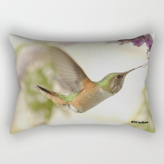 Ms. Hummingbird Checks Another Nectar Source Rectangular Pillow