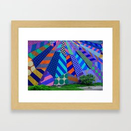 The Patterns on the Wall Framed Art Print
