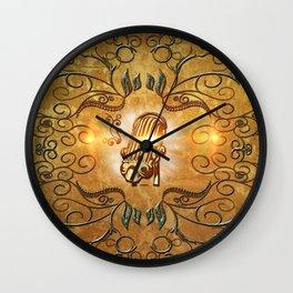 Music, microphone Wall Clock