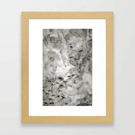 Cloud Doodles Framed Art Print