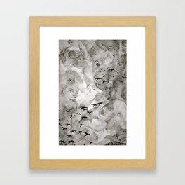 Cloud Doodles Framed Art Print