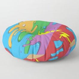 Rainbow Bear Floor Pillow