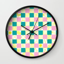 Check Mate by Australian Artist Vidy Potdar Wall Clock