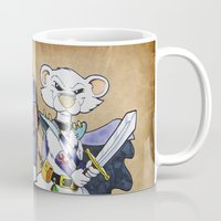 "warhammer Mugs featuring Furhammer ""P'Orc and Dark Ferret"" by the Artisan Rogue"