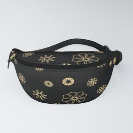 Floral pattern in peach and black Fanny Pack