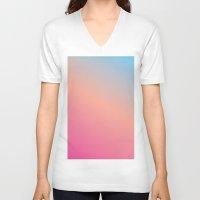 blush V-neck T-shirts featuring Blush by karenyoojin