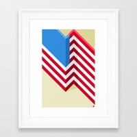 flag Framed Art Prints featuring Flag by Ryan Winters