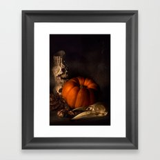 Halloween Still Life Framed Art Print