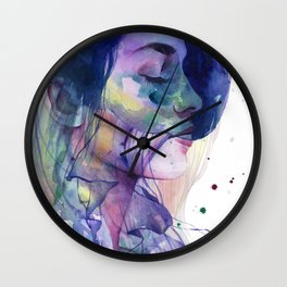 Close your eyes Wall Clock