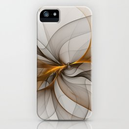 Elegant Chaos, Abstract Fractal Art iPhone Case