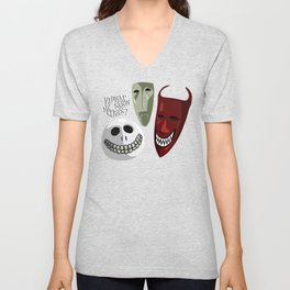 Kidnap Mr Sandy Claws? Unisex V-Neck