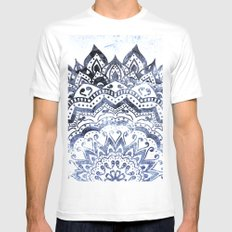 BLUE ORION JEWEL MANDALA MEDIUM Mens Fitted Tee White
