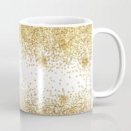 Sparkling golden glitter confetti effect Coffee Mug