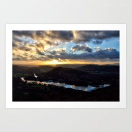 Looking Down at Lakeside - Windermere Art Print