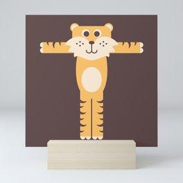 Letter T // Animal Alphabet // Tiger Monogram Mini Art Print