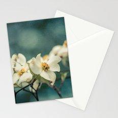 Spring Botanical -- White Dogwood Branch in Flower Stationery Cards