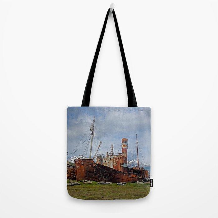 Abandoned Whaling Ships Tote Bag