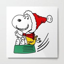 snoopy happy christmas Metal Print