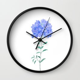 blue purple Plumbago auriculata flower Wall Clock