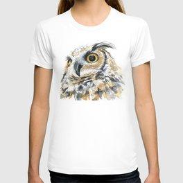 Owl Great Horned Bird of Prey Owls Animals Bird Wildlife T-shirt