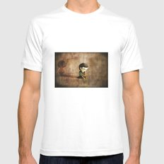 Shy White MEDIUM Mens Fitted Tee
