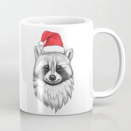Santa Raccoon Coffee Mug