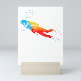 Dive Underwater Snorkel Divers Gift Idea Mini Art Print
