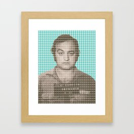 Jake Blues Mug Shot - Blue Framed Art Print