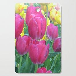 Sweet Spring Tulips Cutting Board