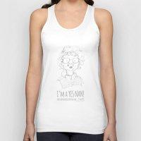 nan lawson Tank Tops featuring Yes Nan! by Lisa Jayne Murray - Illustration