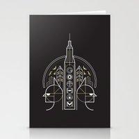 gotham Stationery Cards featuring Gotham by Aliel Arts