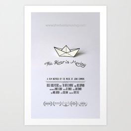 The River is Moving - POSTER Art Print