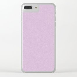 Lavender Stucco Clear iPhone Case
