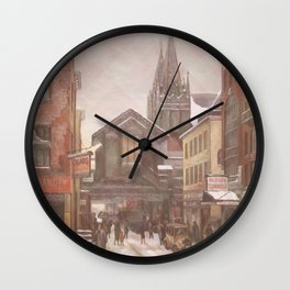 Crosswork Village Wall Clock