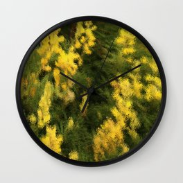 Yellow  Rain Wall Clock