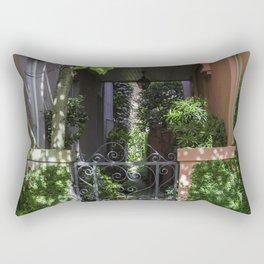 Charleston SC No.2 Hidden Garden on Rainbow Row Rectangular Pillow